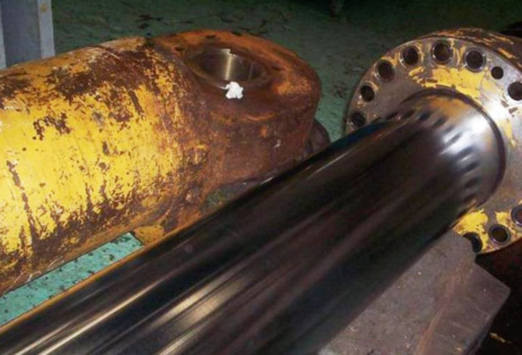 Arm cylinder was in excellent condition upon inspection