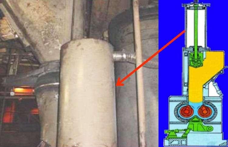 Banbury mixer main hopper cylinder