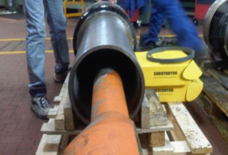 Servo motor cylinders being rebuilt
