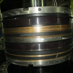AWC 800 22K Piston Seal and 18K GNF Bearing Bands installed on the Piston