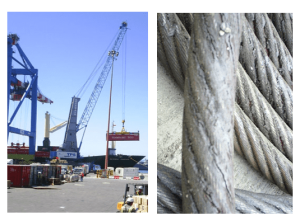 Crane cables lubricants dry out, trap dirt and fail to prevent corrosion.
