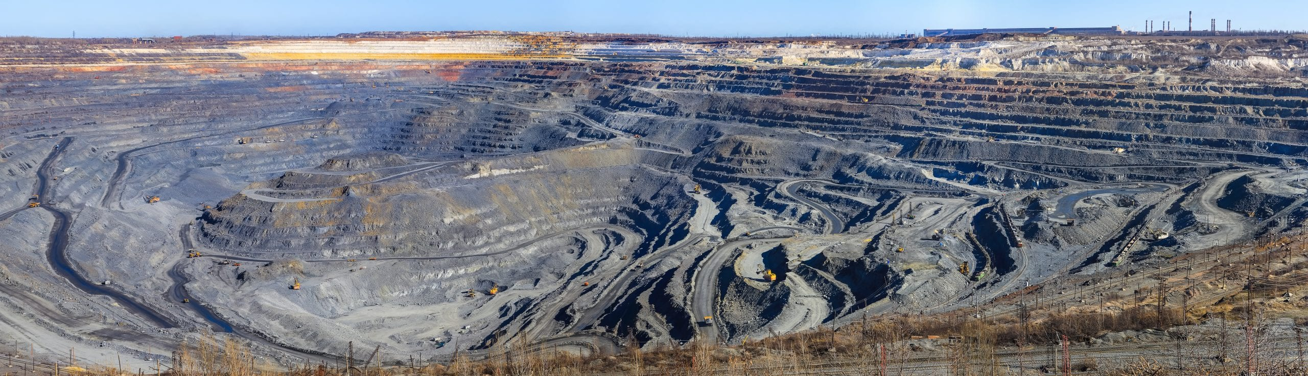 panorama of a great career iron ore mining