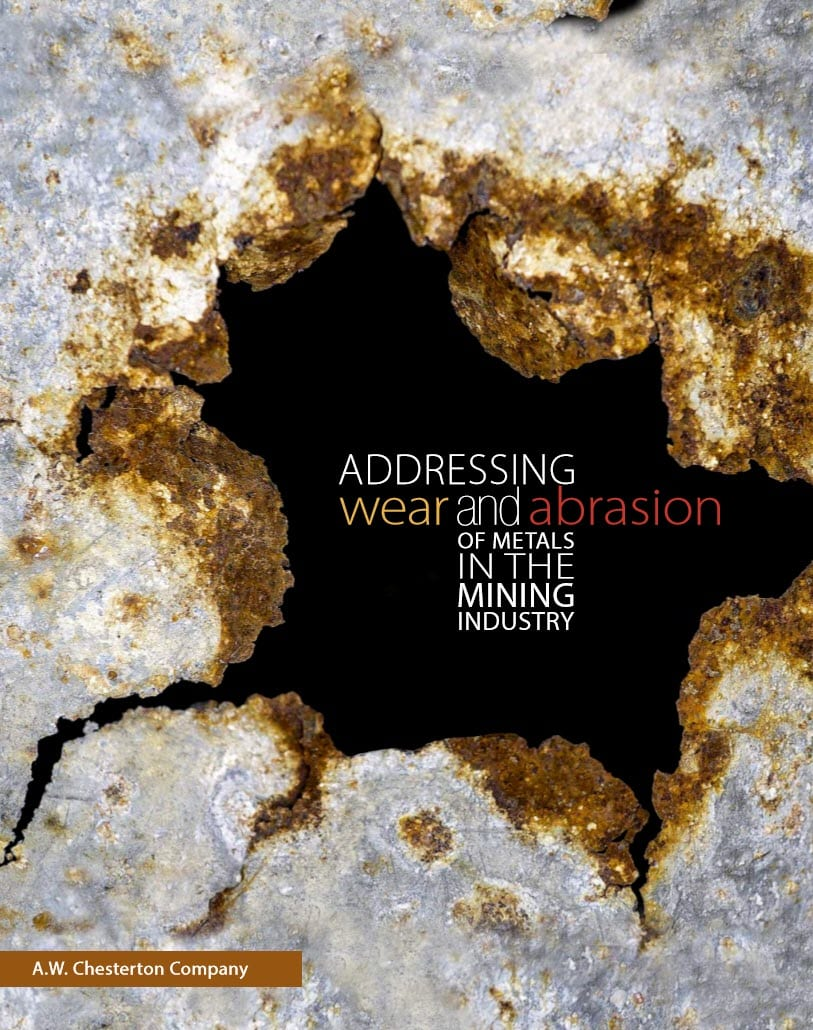 Image of wear and abrasion on mining equipment