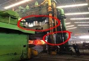 Chesterton® 11K split seal used on 6500 ton hydraulic press